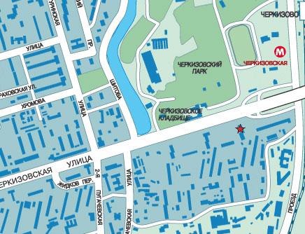 """Метро  """"Черкизовская """" Большая Черкизовская улица дом 30-Б телефон;8(499)161-72-34 Ориентиры из центра..."""